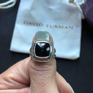 David Yurman Albion Ring w/ Black Onyx & Diamonds